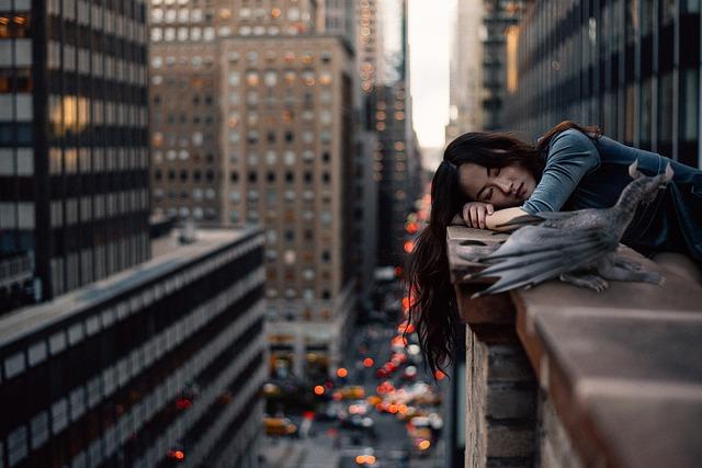 urban woman sleep deprived