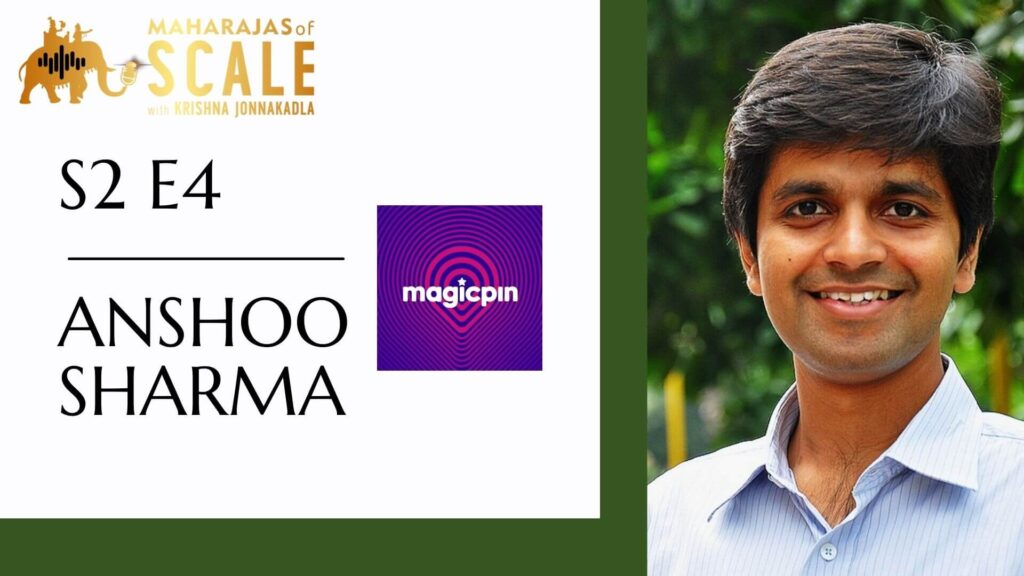 Title Image for episode with Anshoo Sharma of Magic Pin