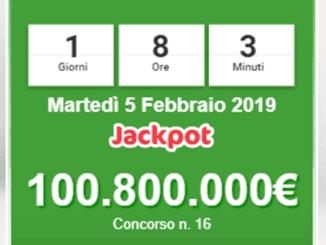 Jackpot Superenalotto a 100 Milioni