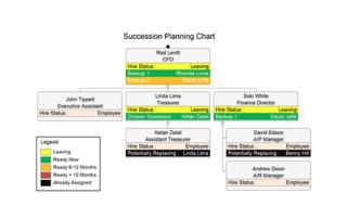succession planning chart