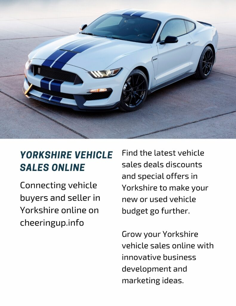 Connecting vehicle buyers and seller in Yorkshire online on cheeringup.info