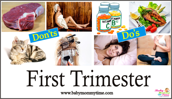 Printable Do's & Don'ts: First Trimester of Pregnancy