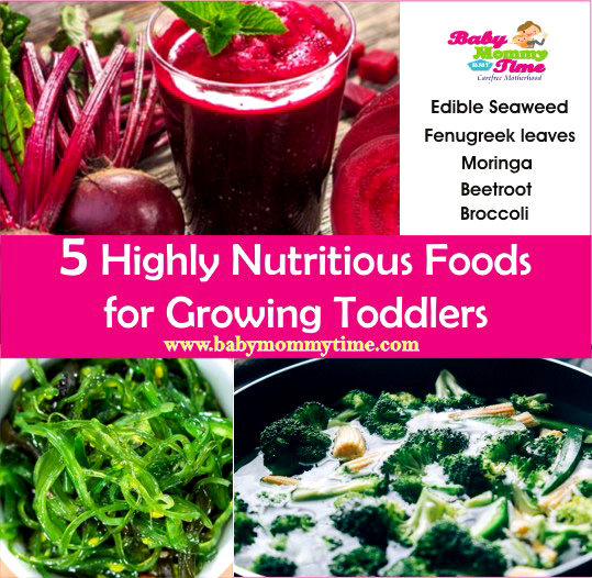 5 Highly Nutritious Foods for Growing Toddlers
