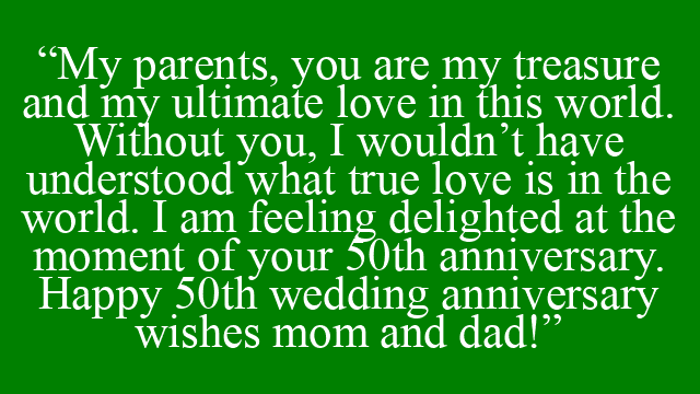 anniversary wishes and saying for parents