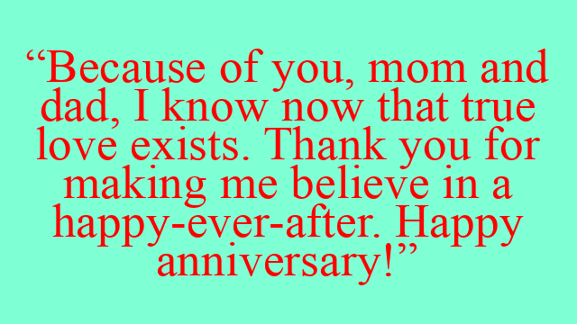 Happy anniversary mom and dad verses