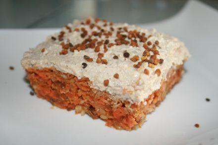 tarta cruda de zanahoria