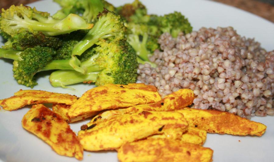 pollo con brecol y trigo sarraceno para tus recetas terapéuticas