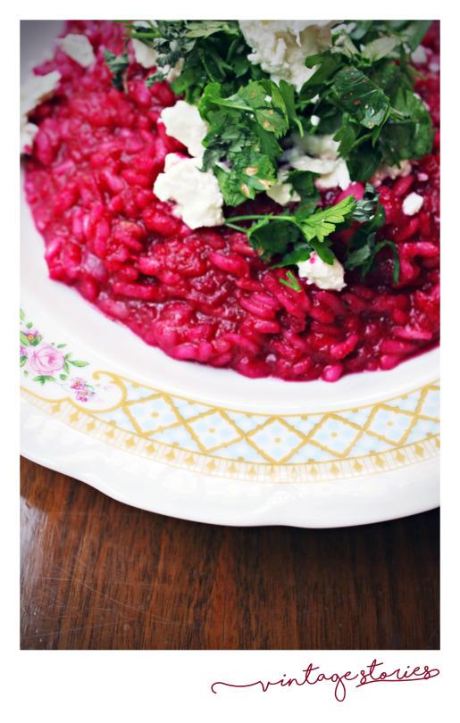 ριζότο με πέστο παντζάρι