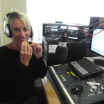 The lovely Liz about to taste the 'Dragon Food'