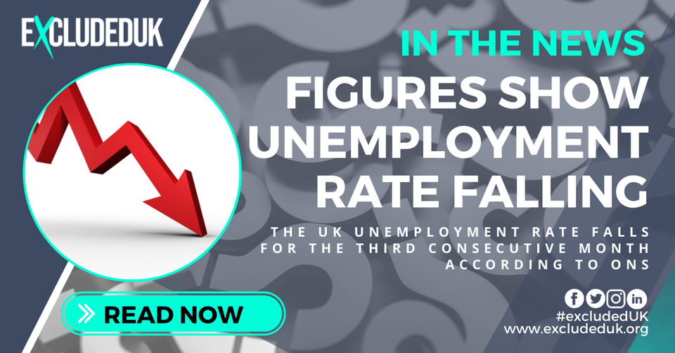 Unemployment down for third consecutive month