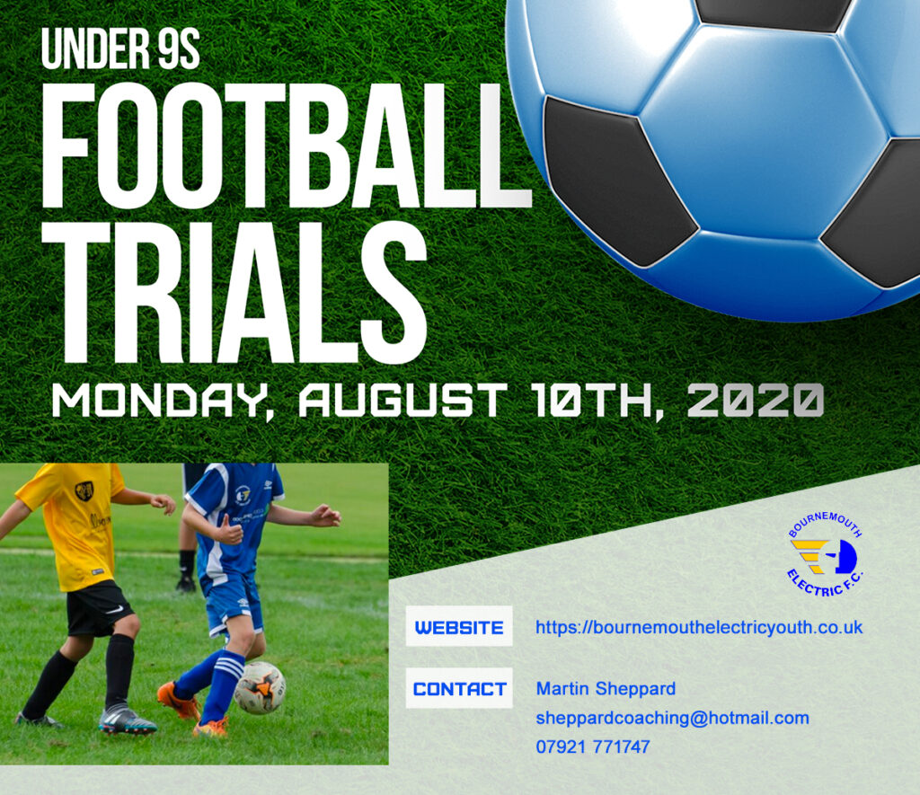Bournemouth Electric U9s Wizards – New Players Needed Trial Date Announced