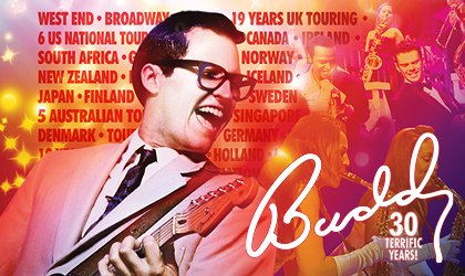 BUDDY 30TH ANNIVERSARY UK TOUR CAST ANNOUNCED