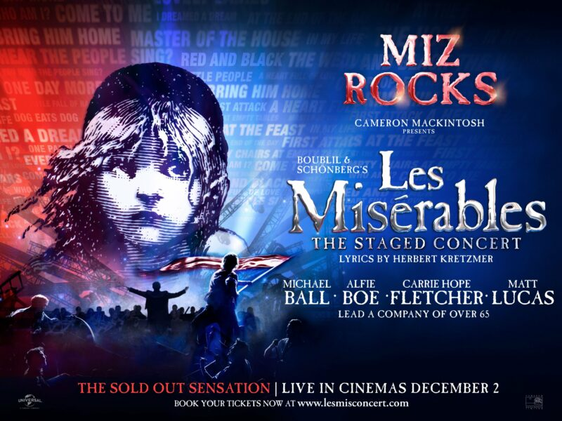 LES MISÉRABLES – THE ALL-STAR STAGED CONCERT CINEMA SCREENING UPDATE
