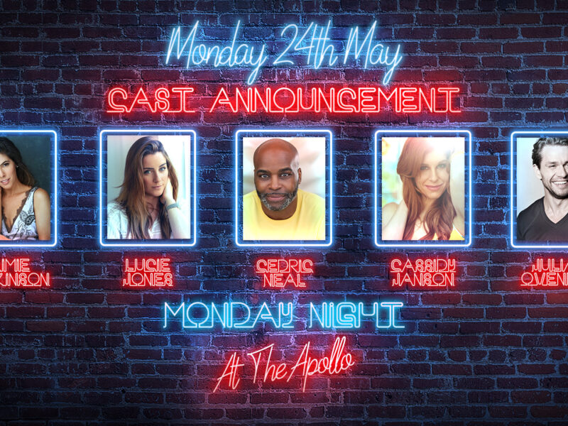 AIMIE ATKINSON, CASSIDY JANSON, LUCIE JONES, CEDRIC NEAL & JULIAN OVENDEN ANNOUNCED FOR MONDAY NIGHT AT THE APOLLO