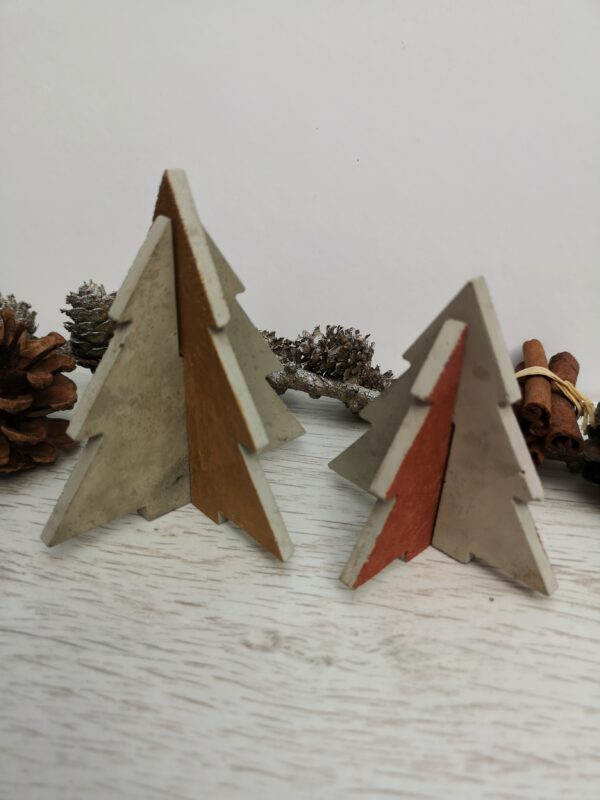 Mini Concrete Christmas Trees