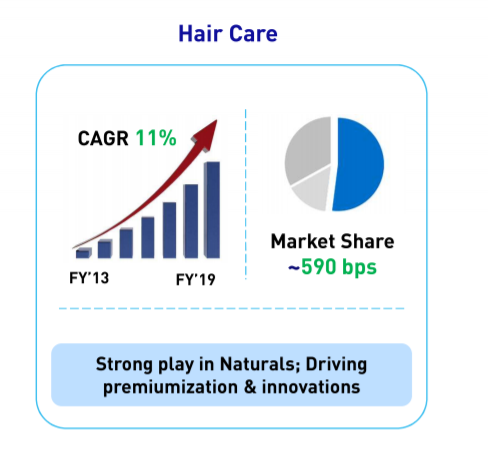 Hindustan Unilever Ltd Hair Care segments performance