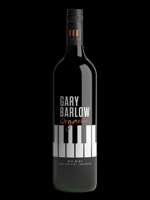 A bottle of Gary Barlow Organic Red