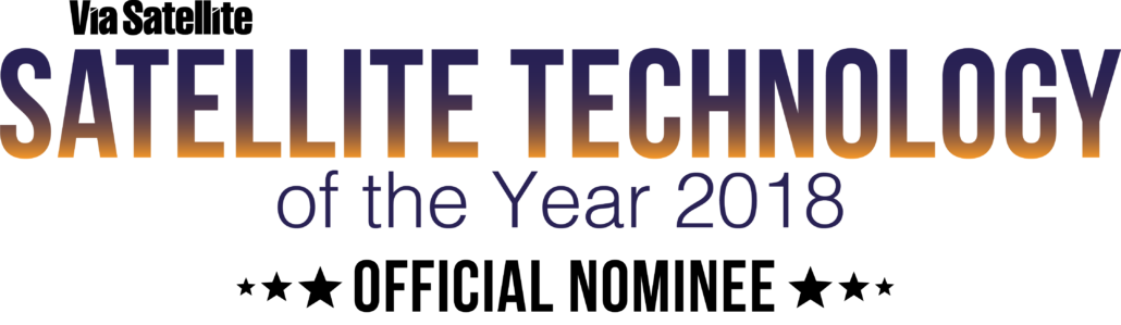 Satellite technology of the year 2018 Official Nominee Logo