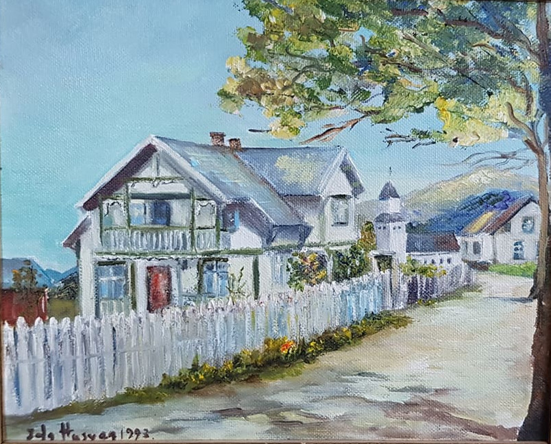 Painting of a house