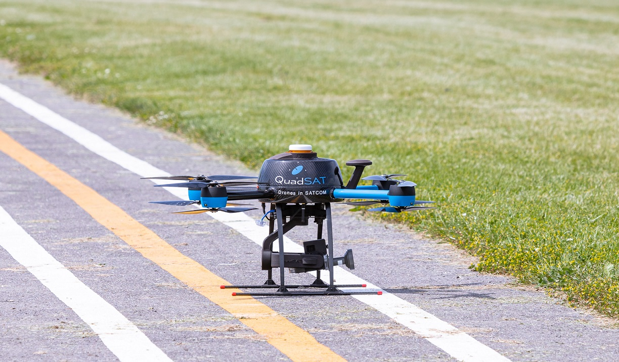Drone in airport test flight