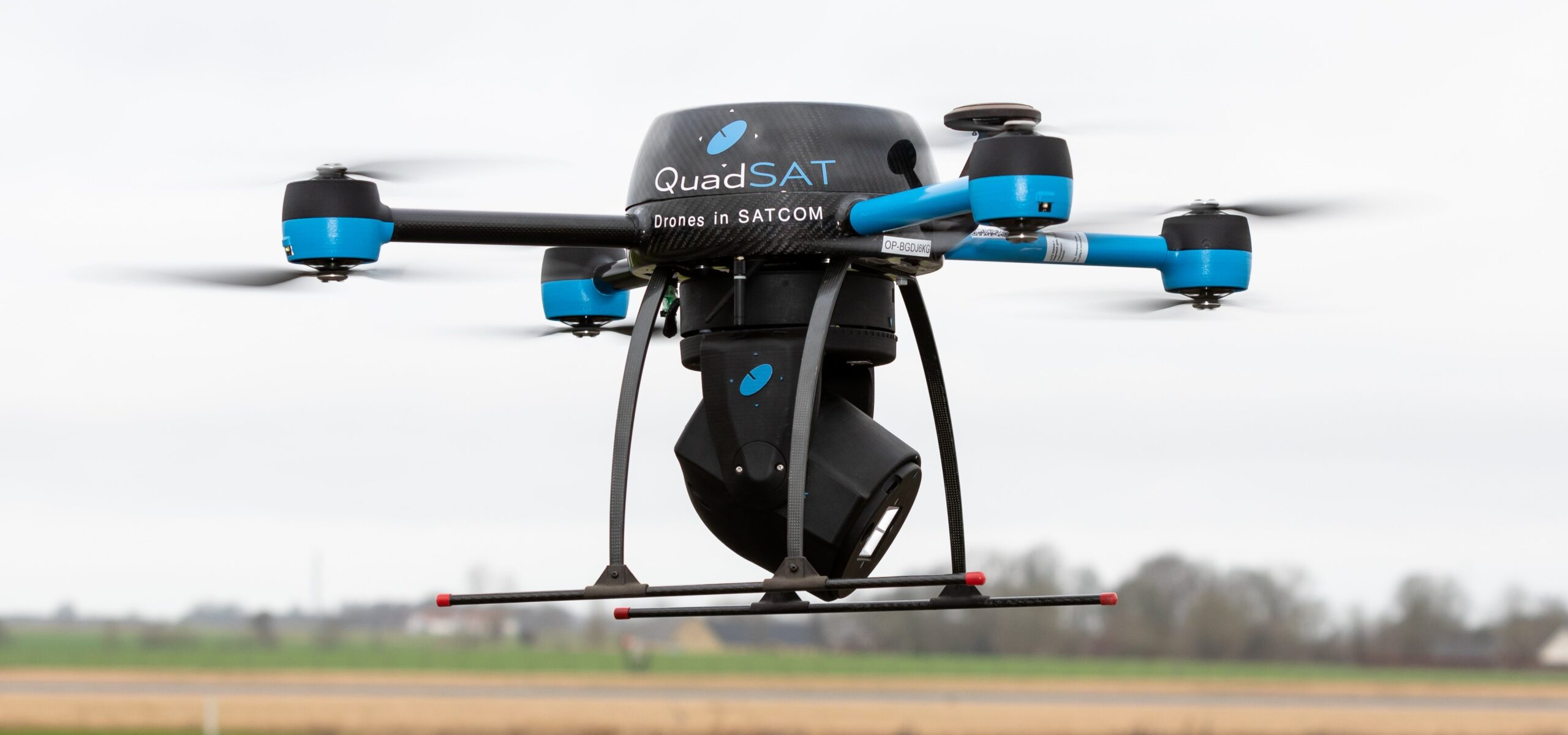 Drone with payload flying