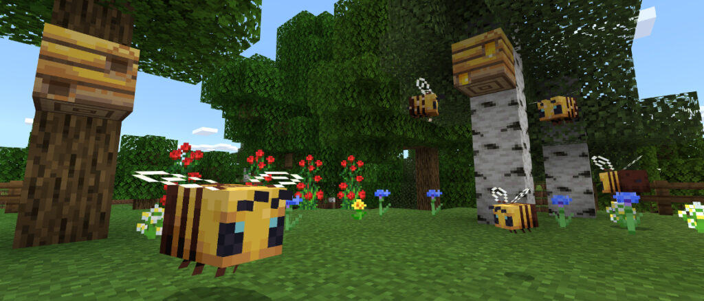 Information about Minecraft buzzy-bees BEDROCK EDITION?