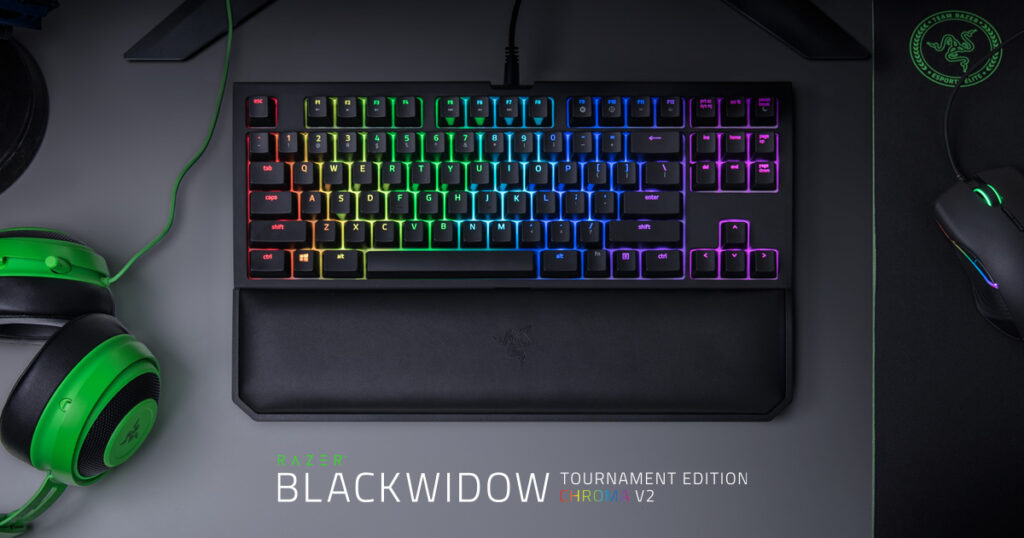 Razer BlackWidow Chroma V2 is a bespoke mechanical keyboard with colorful panel ighting