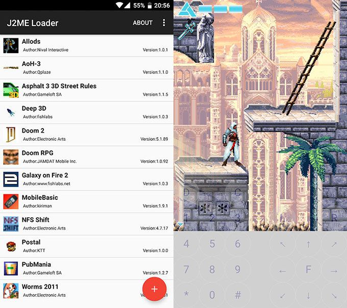 list of java games on android