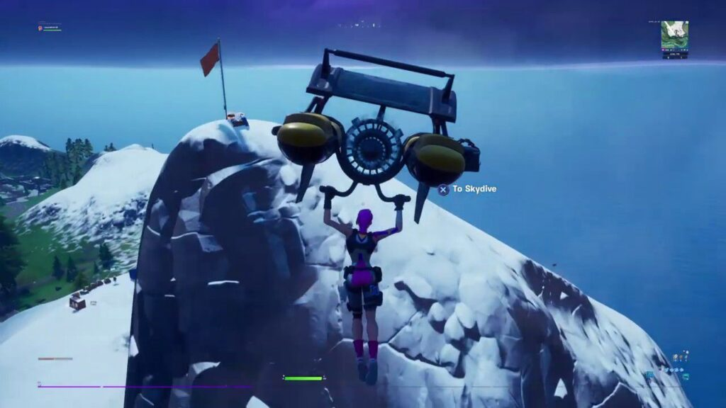 Journey to the tallest mountain in Fortnite Chapter 2 game