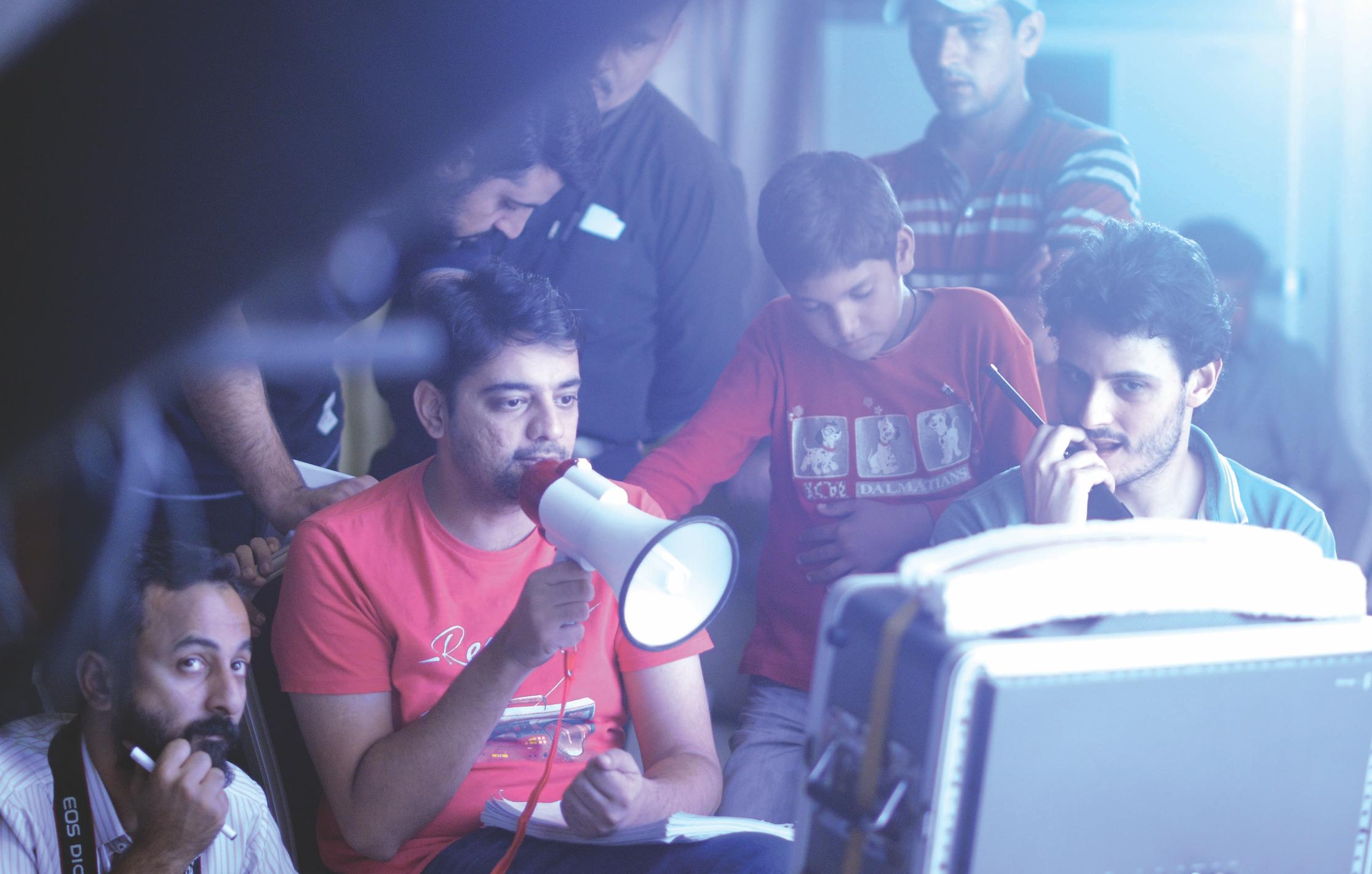 Azfar Jafri and Osman Khalid Butt on the set of Janaan