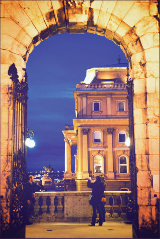 One of the many gates of the mighty Buda Castle