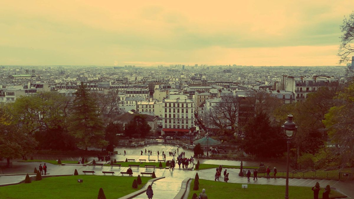 View atop Sacré Coeur