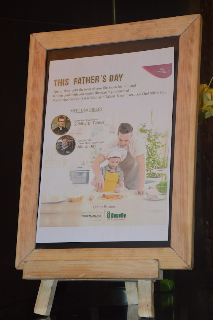 Father's Day Cook Off by FoodManiacs and Ikreate in Association with Crowne Plaza, Gurgaon