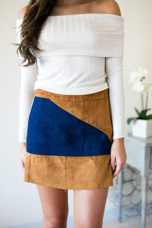Corduroy skirts will be huge this fall!