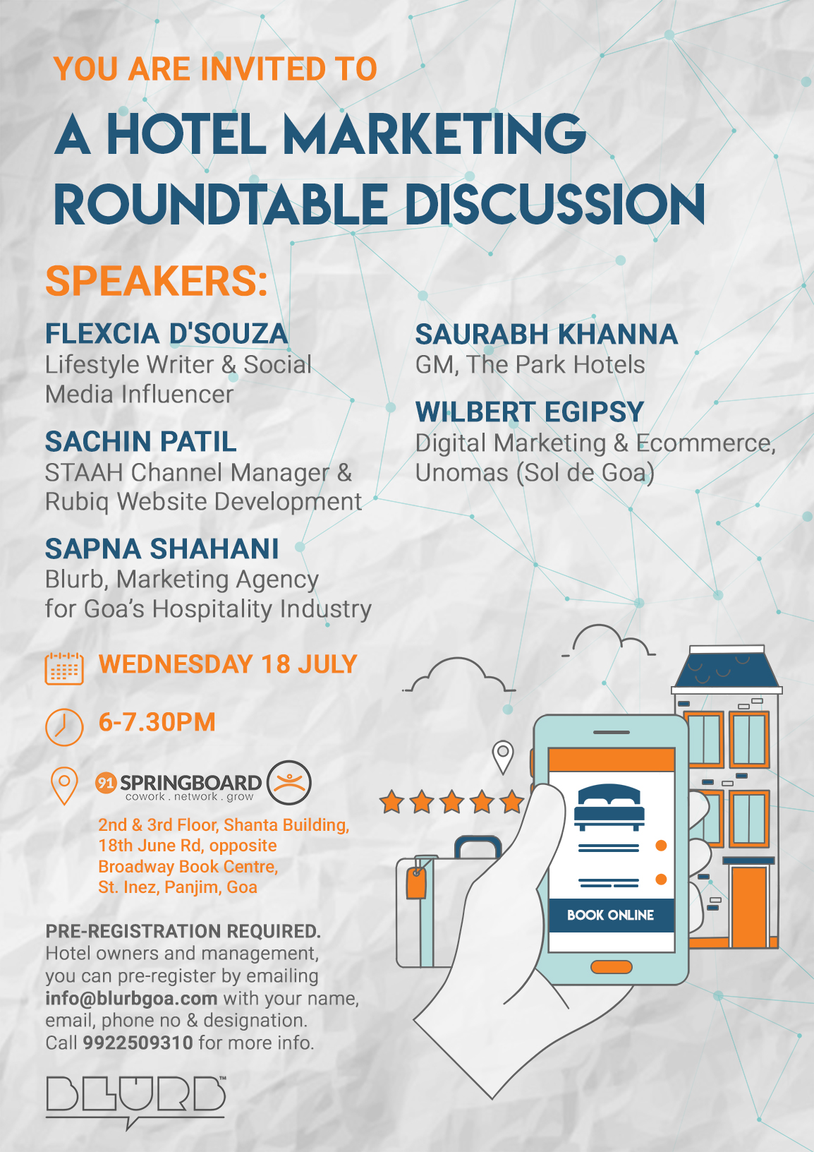 Blurb Hosts Hotel Marketing Round Table Discussion in Goa