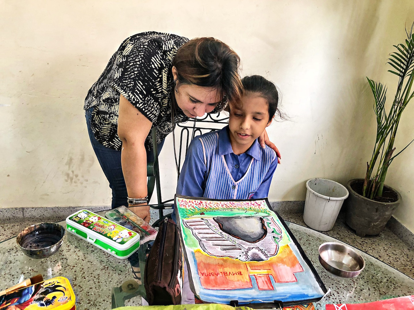 Wishes and Blessings Organise a Painting Competition at Balwant Rai Mehta School!