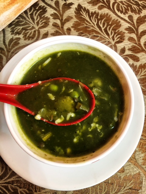Spinach Soup with Mixed Veggies
