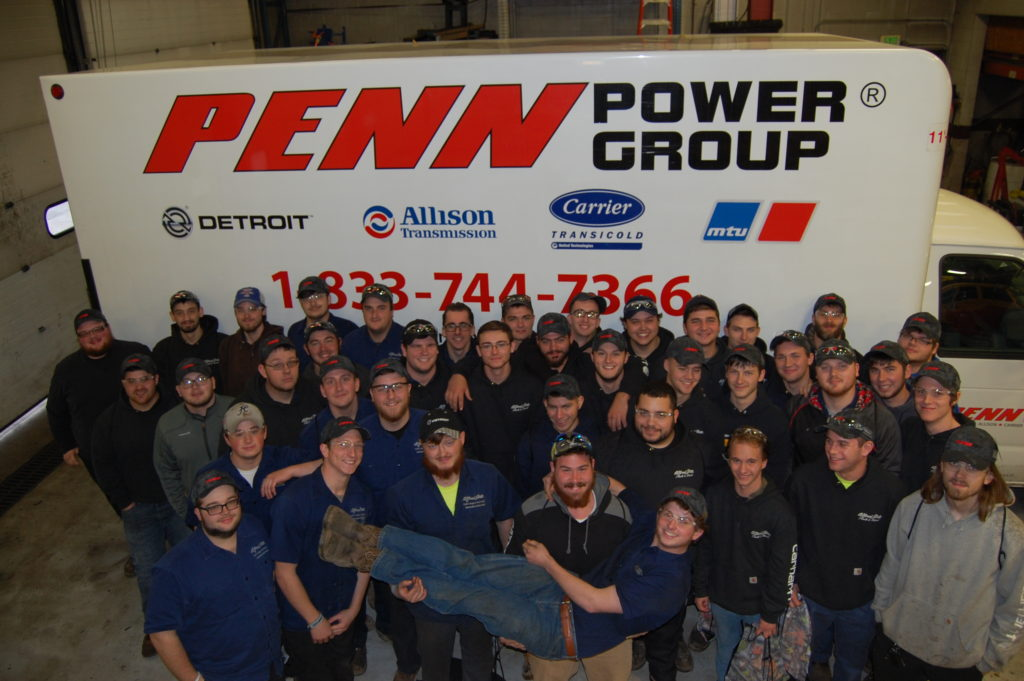 Penn Power Group employees posing for photo