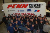 Penn Power Group employees posing for photo