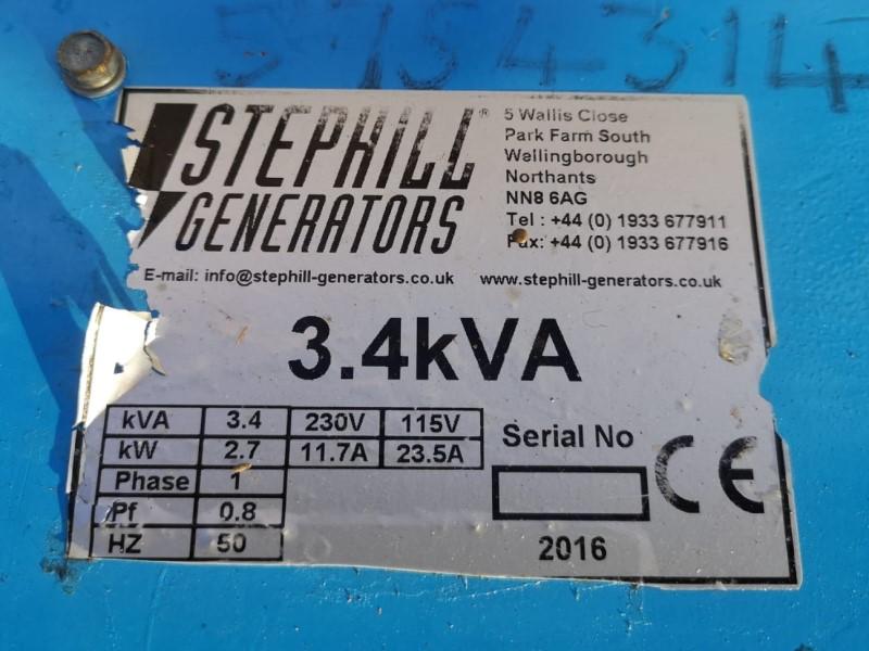 Used Stephill 3.4kVA 115/230V Petrol Generator for sale