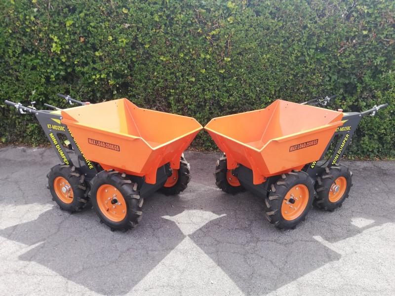 New 4WD Mini Dumper, Petrol Powered Wheel Barrows For Sale
