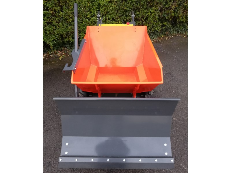 4WD Mini Wheeled Dumper with a Grader, Snow Plough For Sale