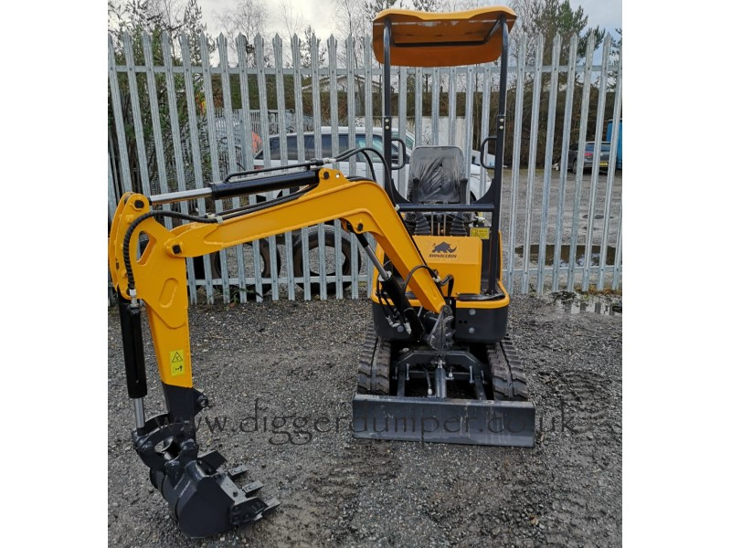 New Rhinoceros LM10 Mini Digger, 1 tonne excavator with 3 buckets for sale