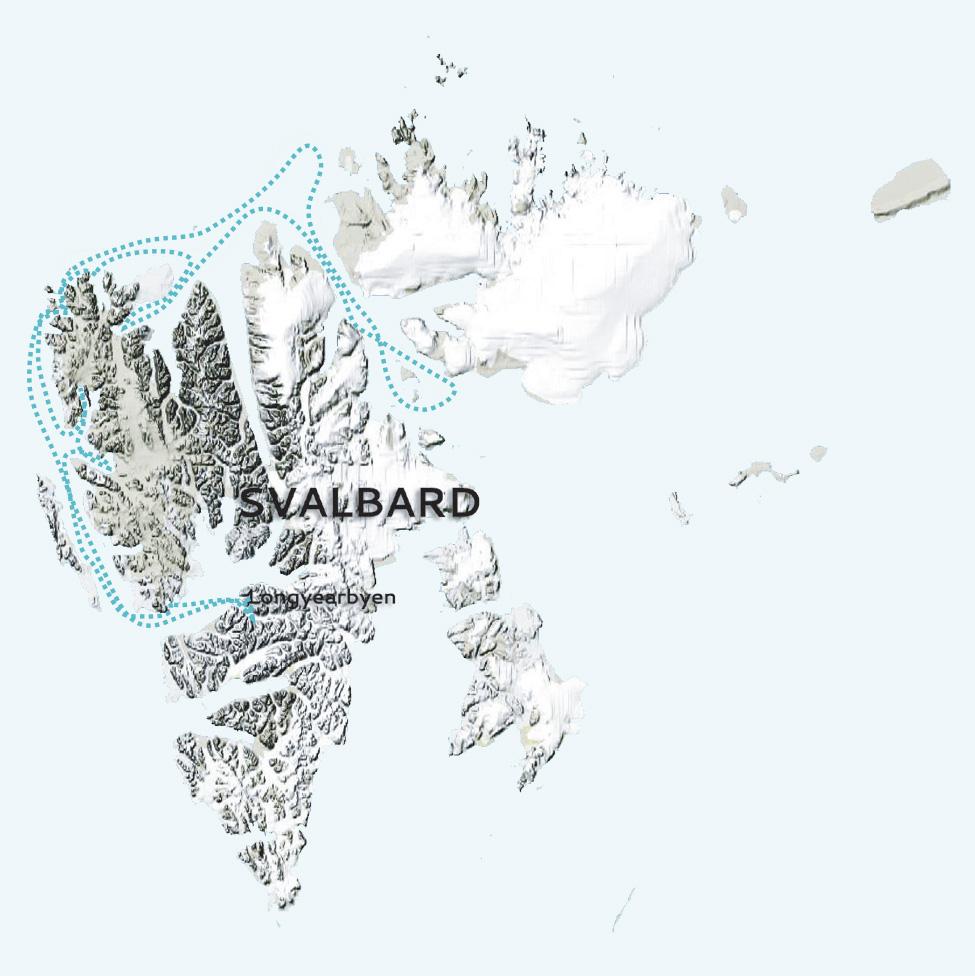 Svalbard Ice lover map