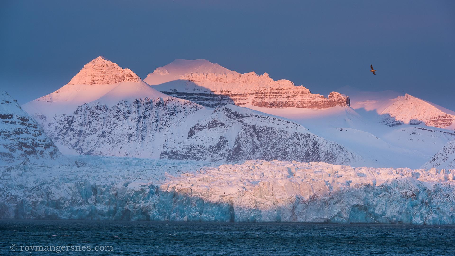 Svalbard Kongsfjorden glacier_Winter