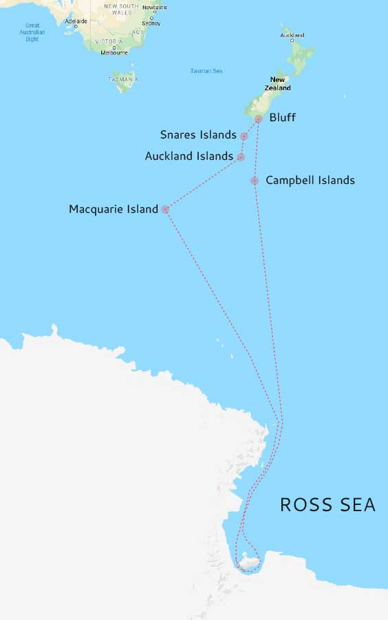 Ross Sea map