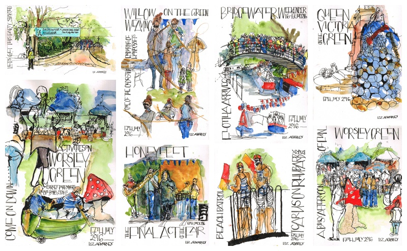 Reportage illustration in Salford LizsScribbles