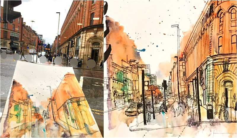 Chorlton exhibition_Manchester sketches