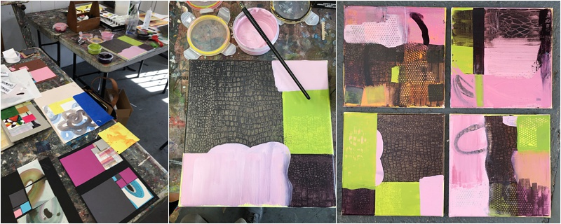 mixed media collage  layering
