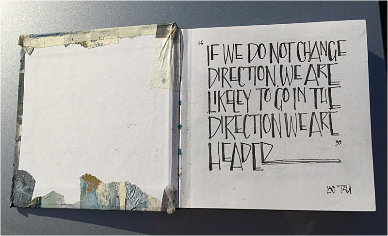 The first page of my sketchbook